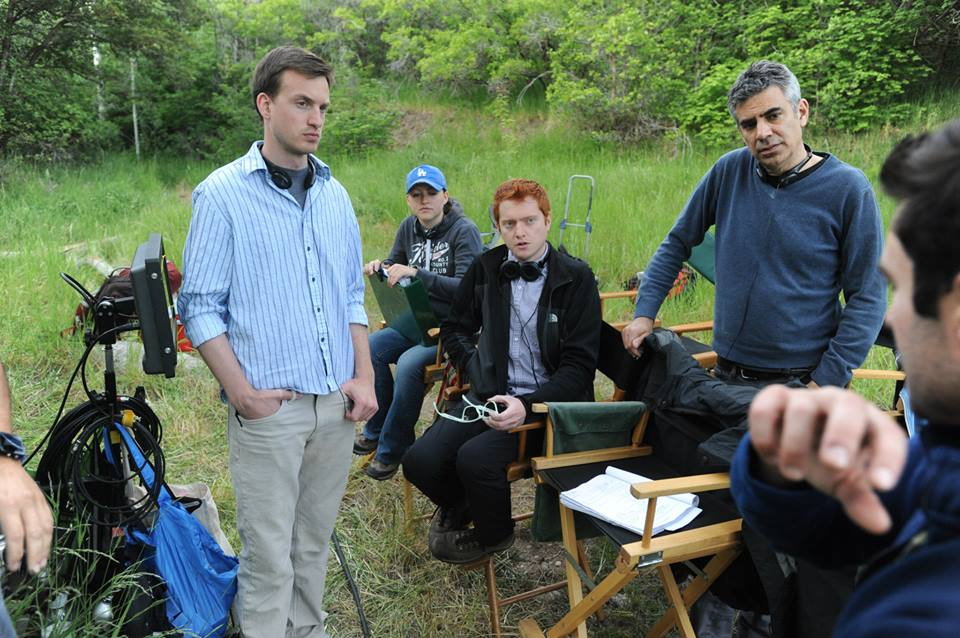 BECK AND WOODS ON SET
