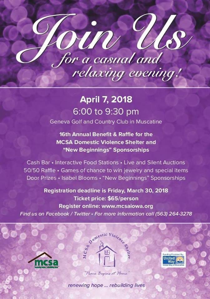 MCSA New Beginnings Fundraiser