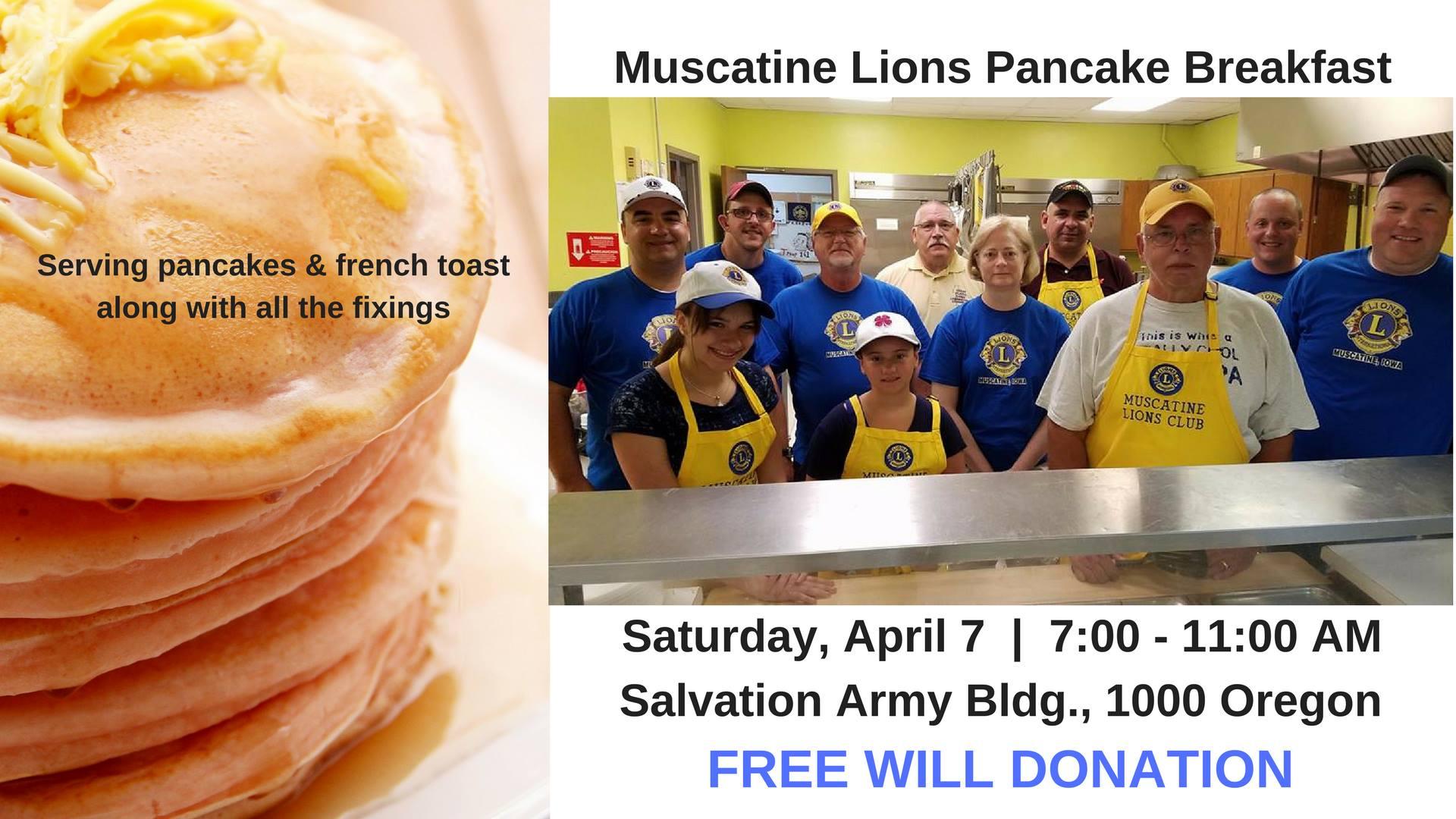 Muscatine Lions Pancake Breakfast