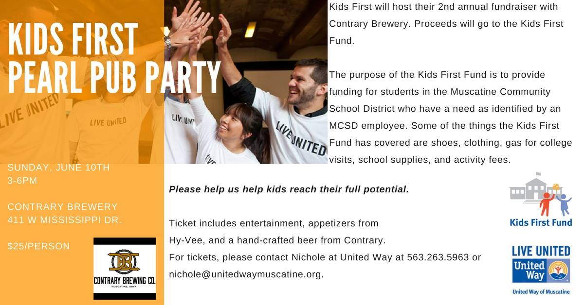 Kids First Pearl Pub Party