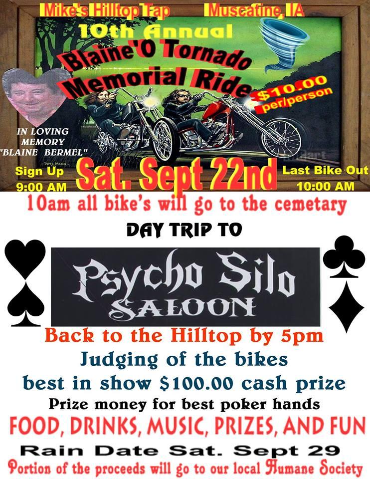 Blaine O Tornado Memorial Ride
