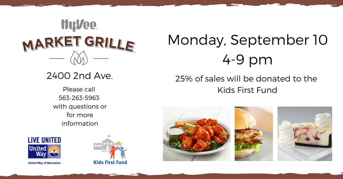 HyVee and Kids First Fundraiser