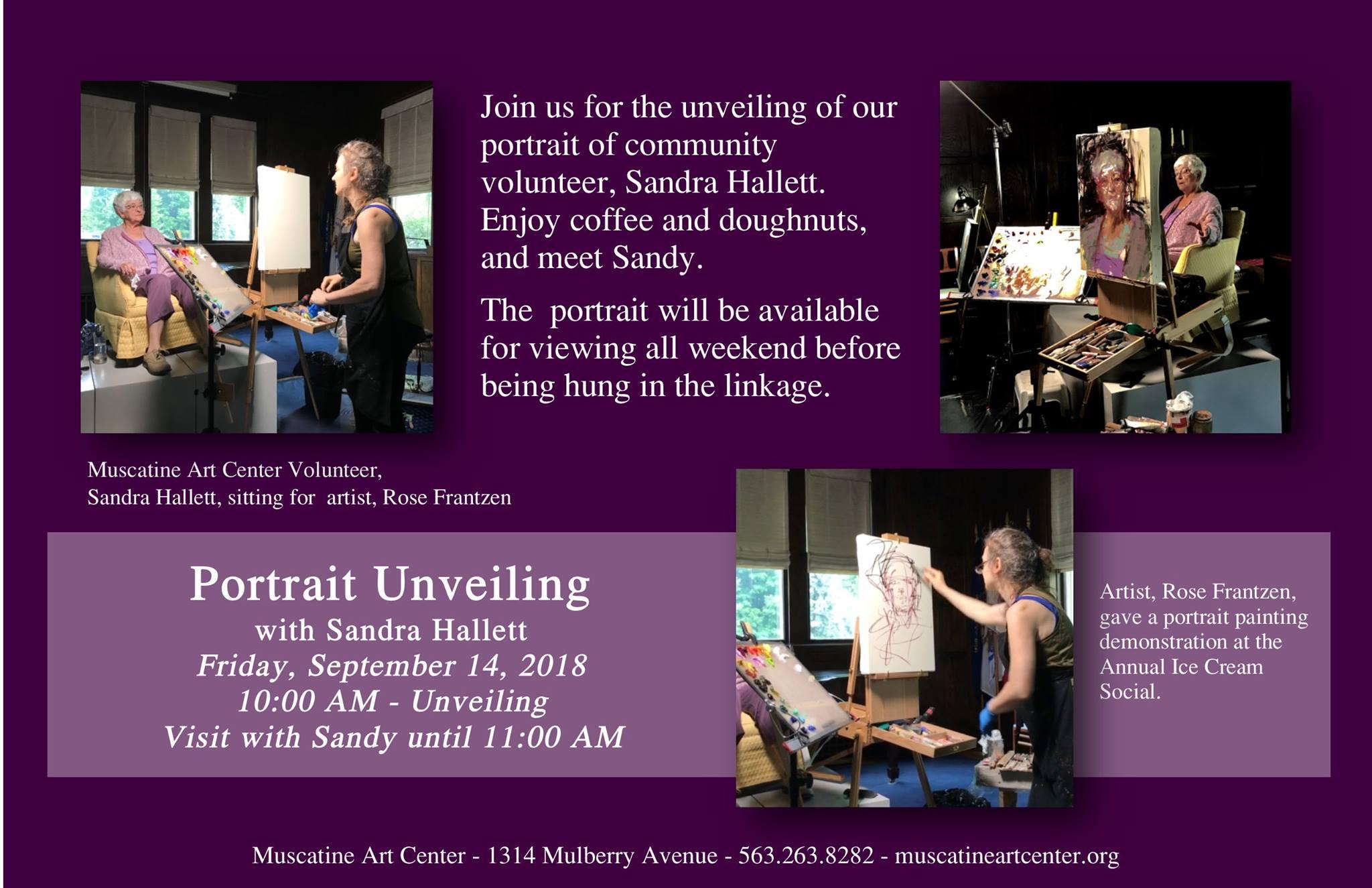 Portrain Unveiling with Sandra Hallett