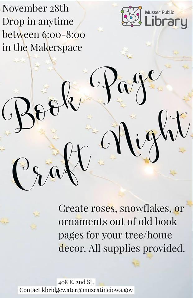 Book Page Craft Night