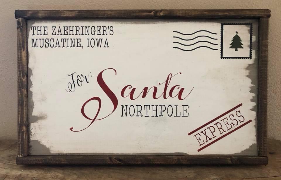 Santa Letter Paint Class