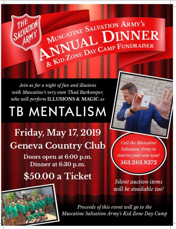 Salvation Army Dinner and Benefit