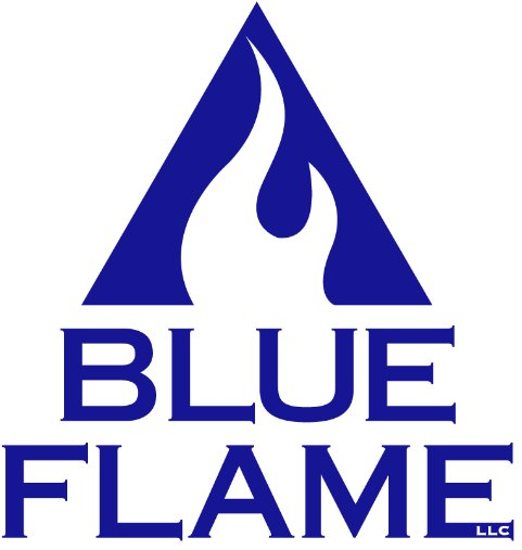blue flame storage logo